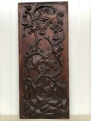 Stunning Gothic floral Panel in oak nr 1