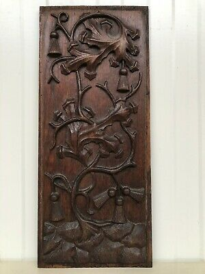 Stunning Gothic floral Panel in oak nr 3