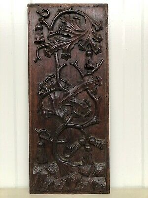 Stunning Gothic floral Panel in oak nr 4