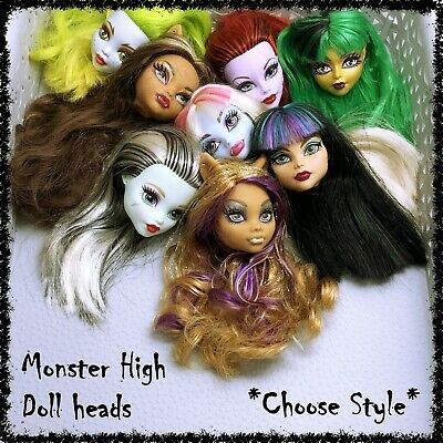 MONSTER HIGH Doll Head, Spares, Restyle, OOAK ~SELECT STYLE~ 1 incl.