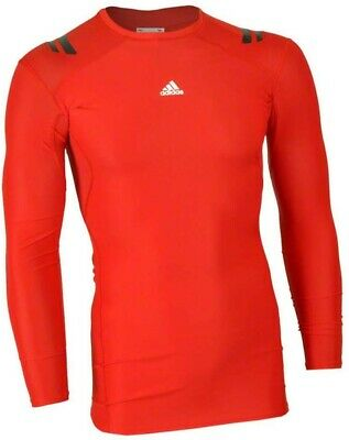 White RRP £50 Our Price 14.88 adidas TechFit PowerWeb Mens Long Sleeve Shirt