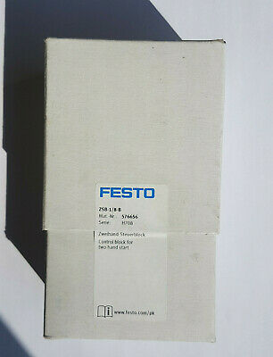 Festo ZSB-1/8-B 576656 Two Hand Control Block - New / Ovp Worldwide Ship,Invoice