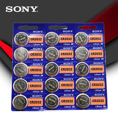 15 pcs SONY Original cr2032 button cell batteries 3V  battery for remote cntrls