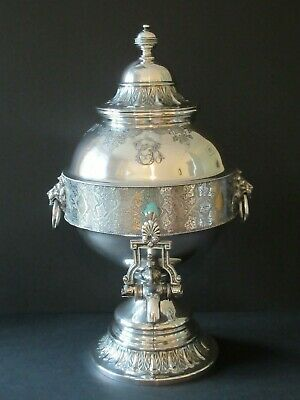 Edwardian Antique Silver Plate Tea Urn - Philip Ashberry & Sons Sheffield 1900-1