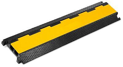 Rubber 2-Channels Cable Protector Car Ramp Bump Safety Cover Heavy Duty Max 7.5T