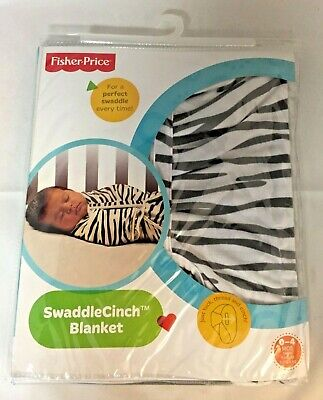 Fisher-Price ZEBRA Print Swaddle Cinch Blanket 0-4 Months