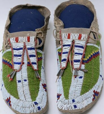 Antique Northern Plains Sioux Indian Moccasins