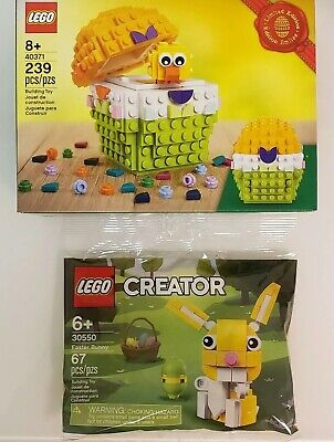 New LEGO Easter Egg Chick 40371 /& Bunny 30550 Promo Limited Edition