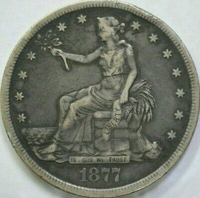 1877-S VF+ United States Trade Dollar