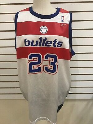 NEW Michael Jordan #23 Bullets Reebok NBA Jersey Hardwood Classic 2X *3 DAY SHIP