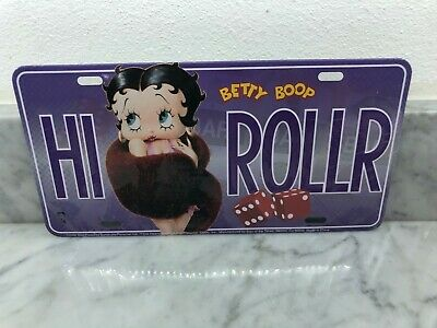 BRAND NEW SEALED Betty Boop HI Roller Licence Plate Collector Series
