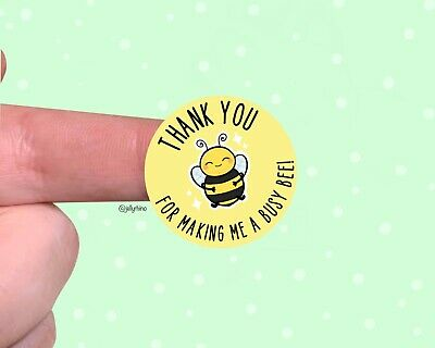 Cute Bee Thank You Stickers For Packaging