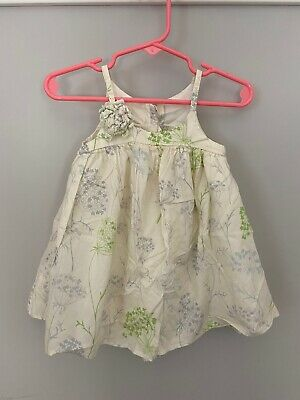 Baby Gap Girls Toddler Summer Dress Size 6-12  Months Sleeveless Floral