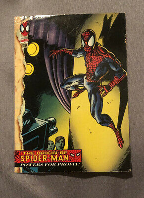 Spider-Man Marvel Card #129 Part 2 The Origin Of Spider-Man Powers For Profit!