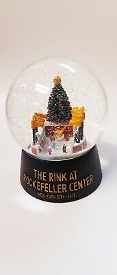 Rockefeller Center New York Snow Globe New In Box Ice rink /Christmas tree