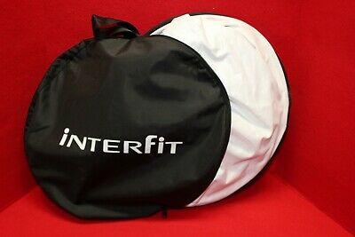 "Interfit 42"" Folding Light Disk Reflector Silver/White with case"