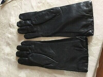 ISOTONER Aris Womens Gloves brown suede Leather L, brown Nylon black leather 8