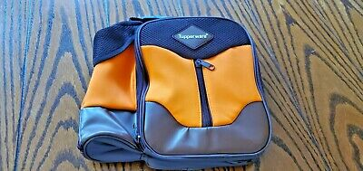 """Tupperware Meal Solutions To Go Insulated Lunch Bag Aqua and Brown 8/"""" Tall New"""
