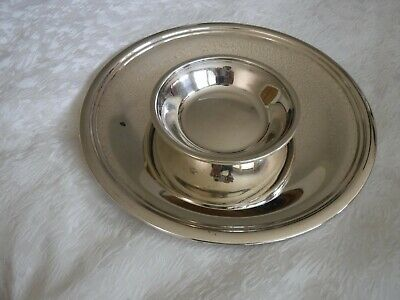 Vintage Reed & Barton Silver Plated Round Serving Platter And Bowl