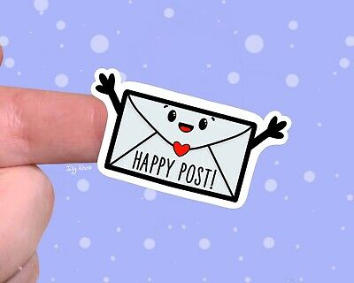 Cute Envelope Happy Post Stickers For Packaging