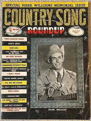 June 1953 COUNTRY SONG ROUNDUP Magazine - HANK WILLIAMS MEMORIAL ISSUE