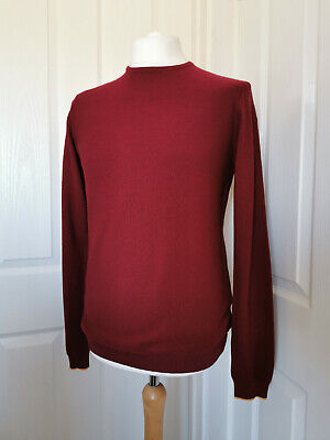 SIZE LARGE BNWT TIMBERLAND Beech River Wool crew neck Grey Jumper RRP £100