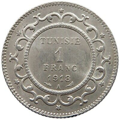 TUNISIA 1 FRANC 1918 TOP  #oz 241
