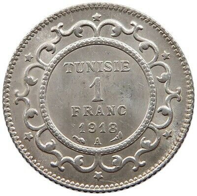 TUNISIA 1 FRANC 1918 TOP  #oz 265