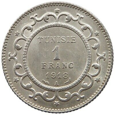 TUNISIA 1 FRANC 1918 TOP   #oz 255