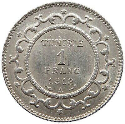 TUNISIA 1 FRANC 1918 TOP  #oz 251