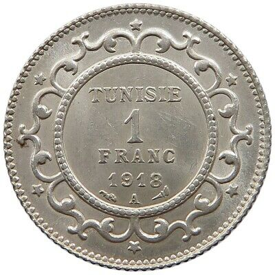 TUNISIA 1 FRANC 1918 TOP  #oz 261
