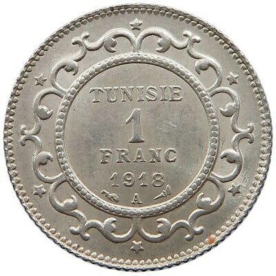 TUNISIA 1 FRANC 1918 TOP  #oz 243