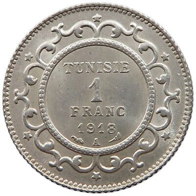 TUNISIA 1 FRANC 1918 TOP   #oz 277