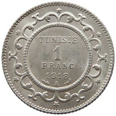 TUNISIA 1 FRANC 1918 TOP    #oz 223