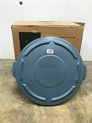 New Rubbermaid Fg263100Gray Gray Trash Can Lid Box Of 6