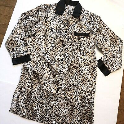 Kathryn Women's Small Leopard Print Knee length robe