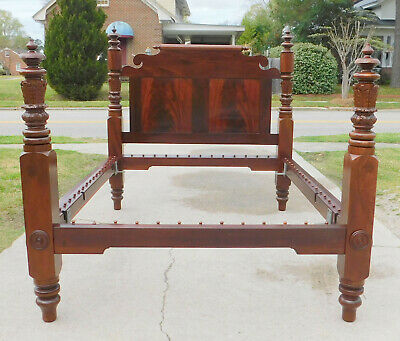 Outstanding Mahogany American Empire Bed~~Full Size