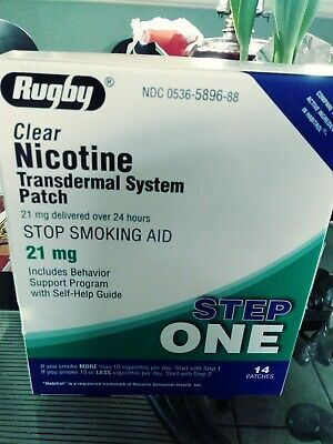 Clear Nicotine Transdermal System Patch