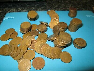 Bulk - 1/2 Pence Coins - Half Pence Coins - 188 in Total