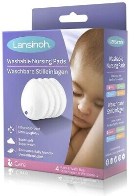 Lansinoh Washable Nursing Pads, Teardrop contoured Bamboo arrived in June