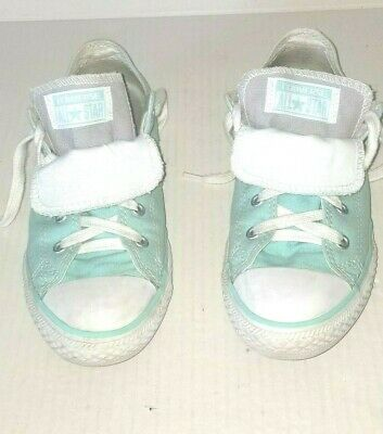 Nice Junior Girls Green CONVERSE ALL STAR Size 4  Lace Up Sneakers Shoes
