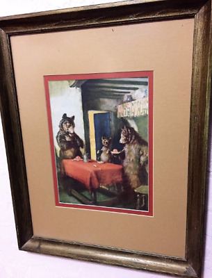 Scarce 1920's Jell-O Ad Thee Bears Framed