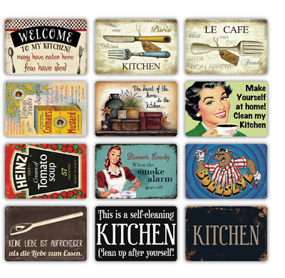"""TIN SIGN Funny Kitchen Cake 8/""""x12/"""" Metal Plaque Decor Wall Poster Home Bar Cafe"""