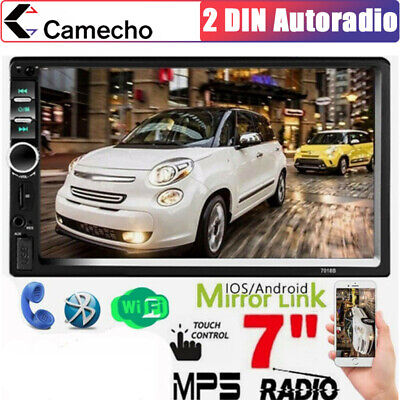 """Autoradio 2 Din Stereo Bluetooth MP3 USB AUX IN FM TF 7"""" Touchscreen MP5 Player"""