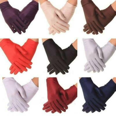 Fashion Women Summer Thin Short Gloves Driving Sunscreen Spandex Soft Gloves NEW