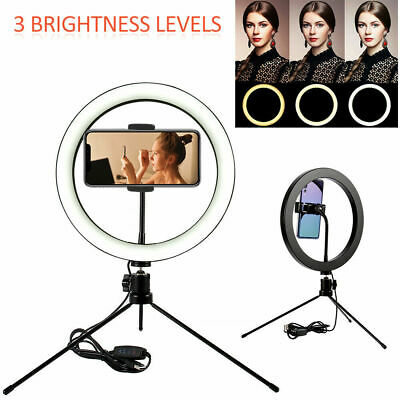 6 in LED Ring Light Lamp Selfie Camera Phone Studio Tripod Stand Video Dimmable