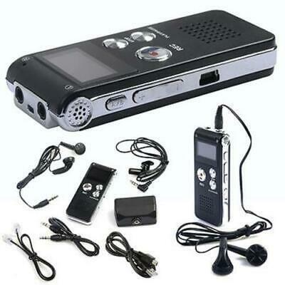 8GB/16GB Rechargeable Digital Sound Voice Recorder Dictaphone MP3 Player Record