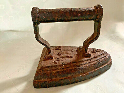Antique Cast Iron  No 4 Flat  Sad Iron