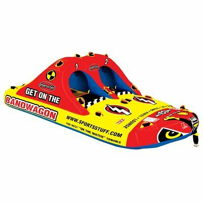 Bandwagon 2+2 Inflatable Towable Tube 4 Rider Fully Covered