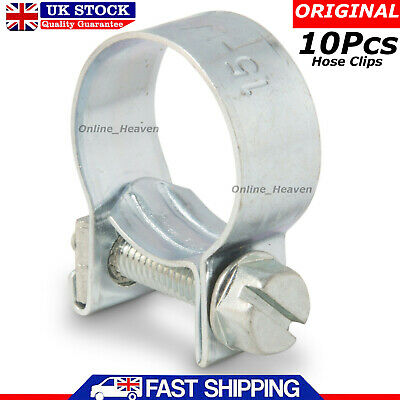 25 x Mini Fuel Line Jubilee Hose Clips Clamps Diesel Petrol Pipe Coolant Radiator 7-9mm